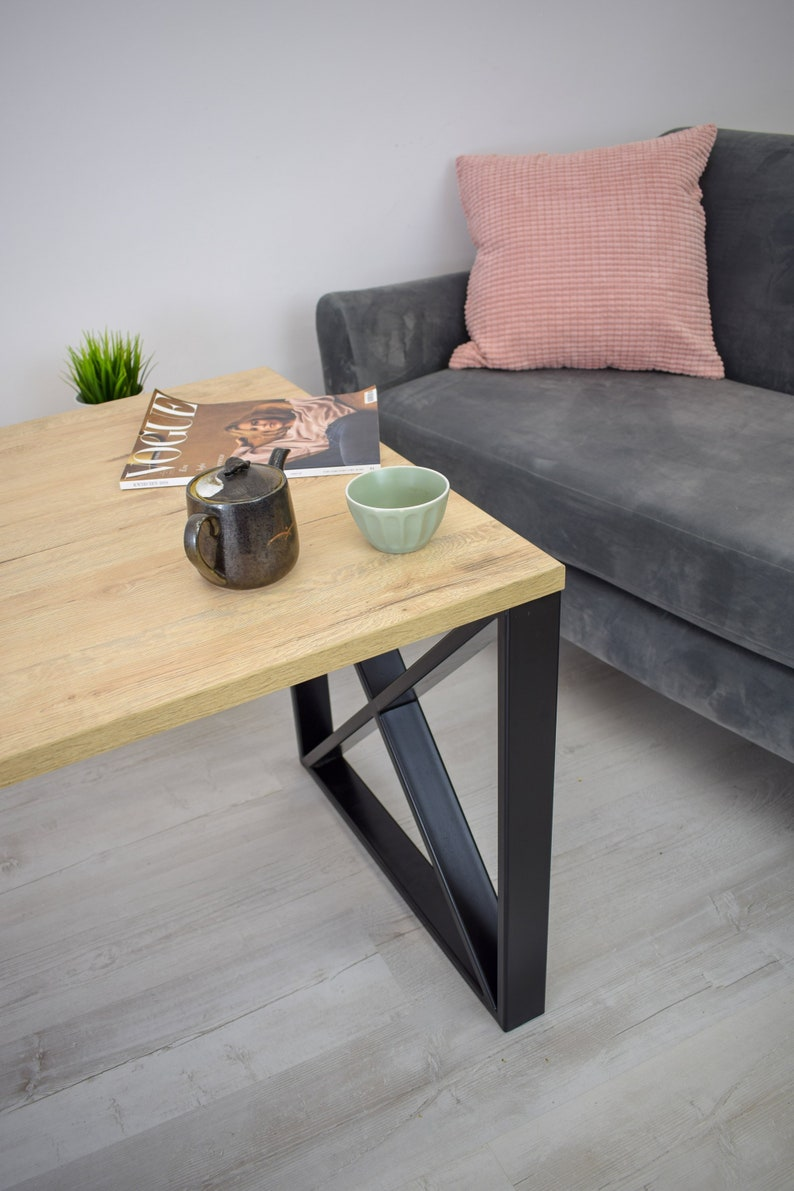 Square table legs Coffee table base Industrial table legs Metal table legs Set of 2 frame legs