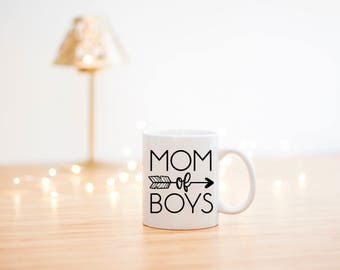 Mom Of Boys Mug- Mom Coffee Mug- Mom Life Mug- Mom Of Boys Gift- Mothers Day Gift- Mom Gift- Mom Mugs- Mom Coffee Cups- Mom Coffee Mugs