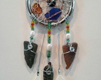 Sea Glass Dream Catcher/Sun Charm