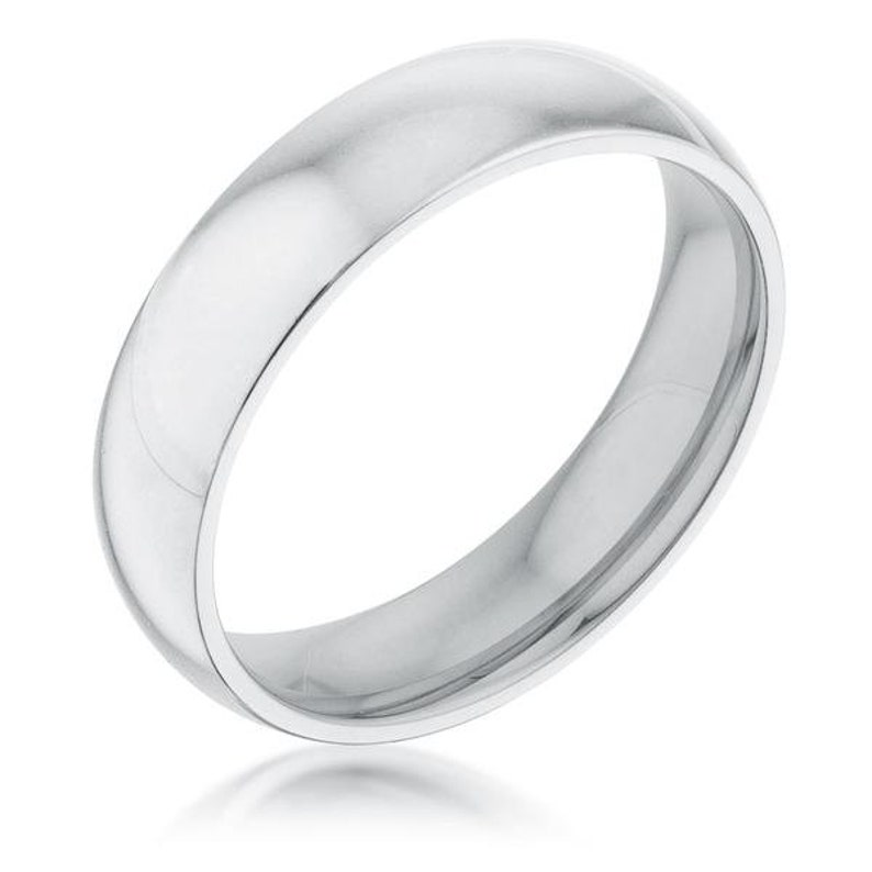 Silver Band 5 mm Stainless Steel Wedding Band Thick Wedding Band Silver Wedding Band Simple Silver Ring Stainless Steel Wedding Band
