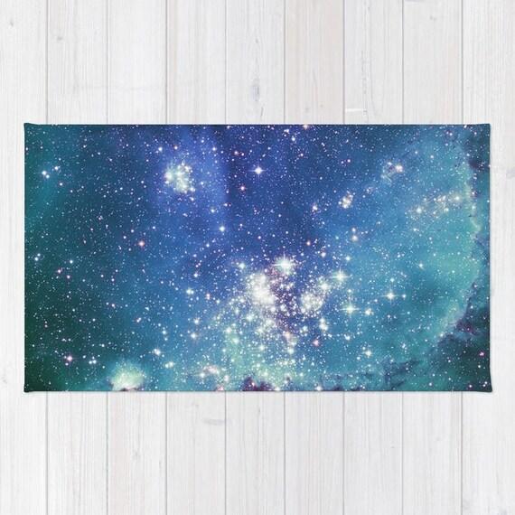 Blue Galaxy Area Rug by NewburyDesigns
