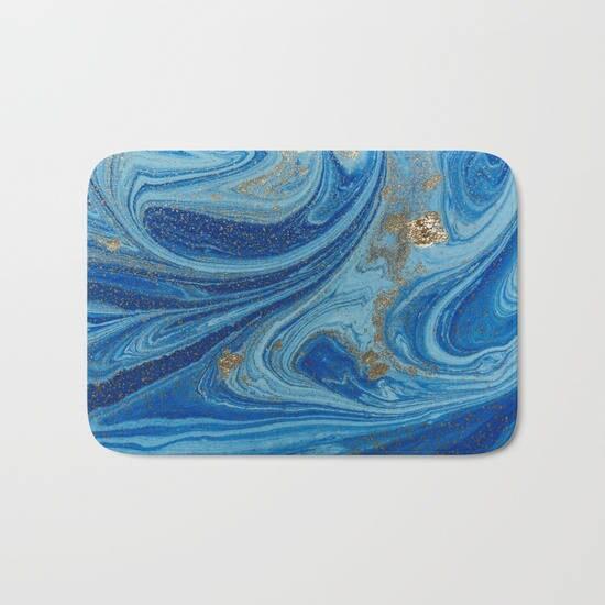 Badezimmer Blau Gold