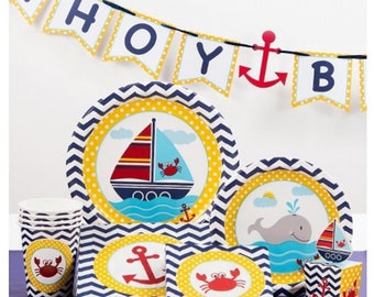 Ahoy Matey Birthday Party (8ct) | Baby Shower | Ahoy Its's A Boy