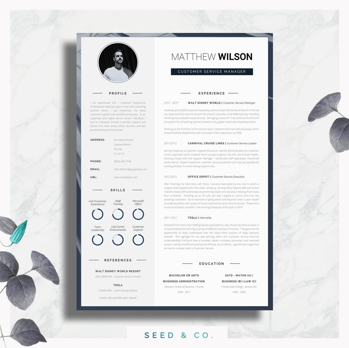 Resume Template Word Resume Template Cover Letter Advice | Etsy