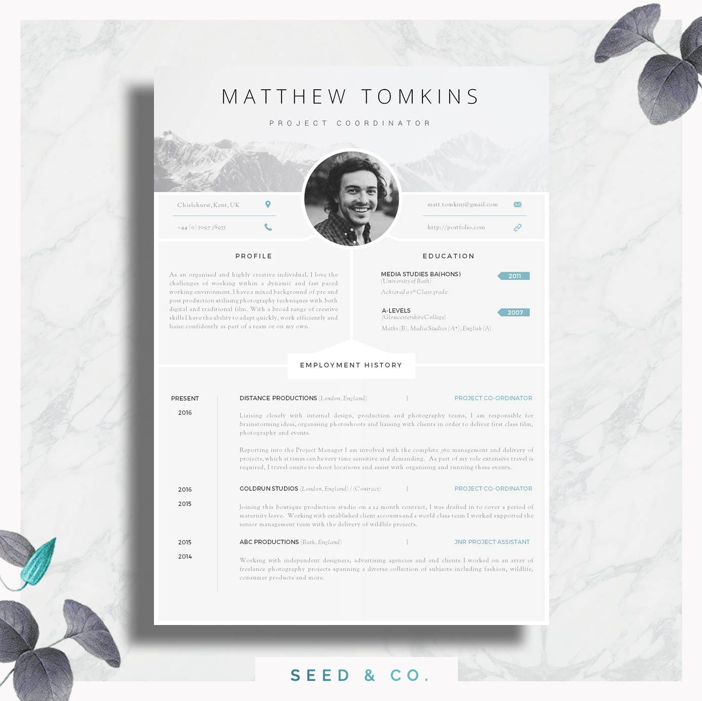 cv template creative resume template modern cv cover