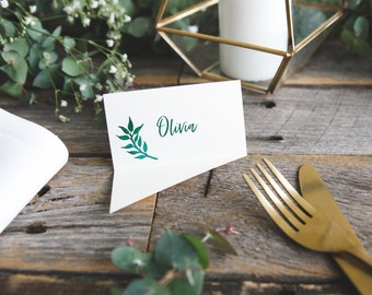 Wedding placecards | Rustic place cards | Unique place cards | Place card | Custom placecards | Name cards | Seating cards | Flare front
