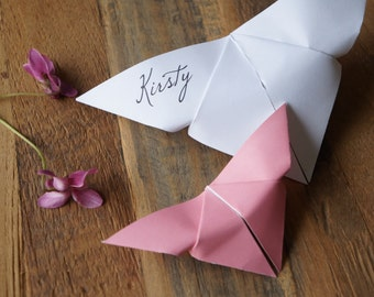 Butterfly placecards | Wedding place cards | Origami place cards | Unique placecards | Custom place cards | Name cards | Seating cards