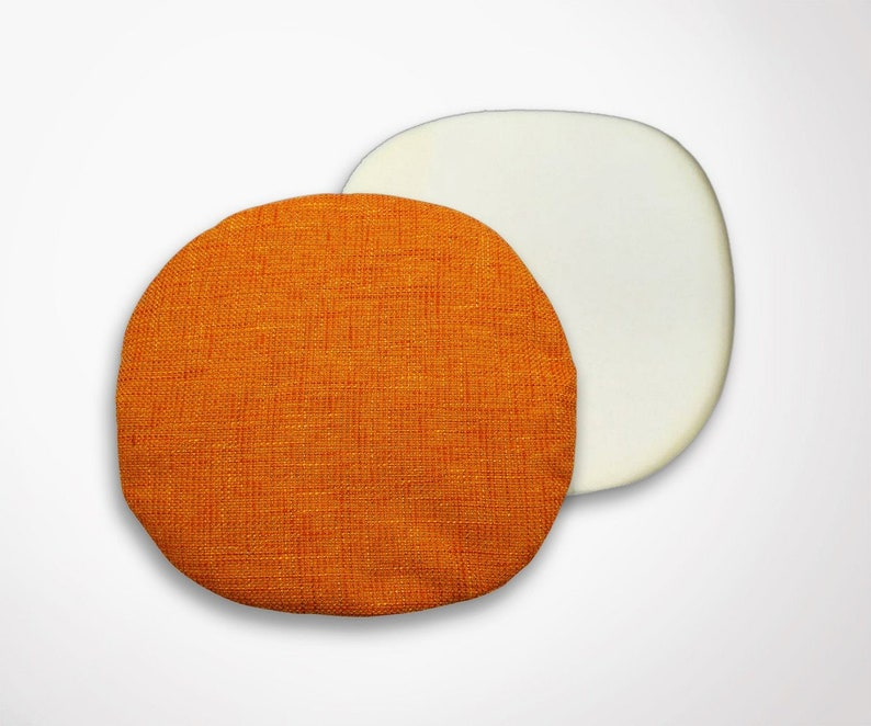 Cushion Cover Foam Orange Heather Saarinen Fabric Tulip Chair