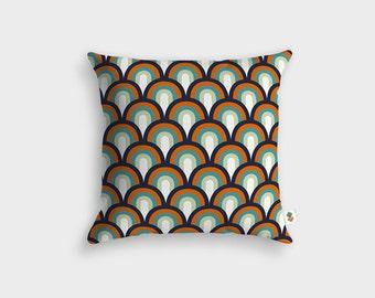 UNDER THE BRIDGE Scandinavian cushion - Made in France - 45 x 45 cm