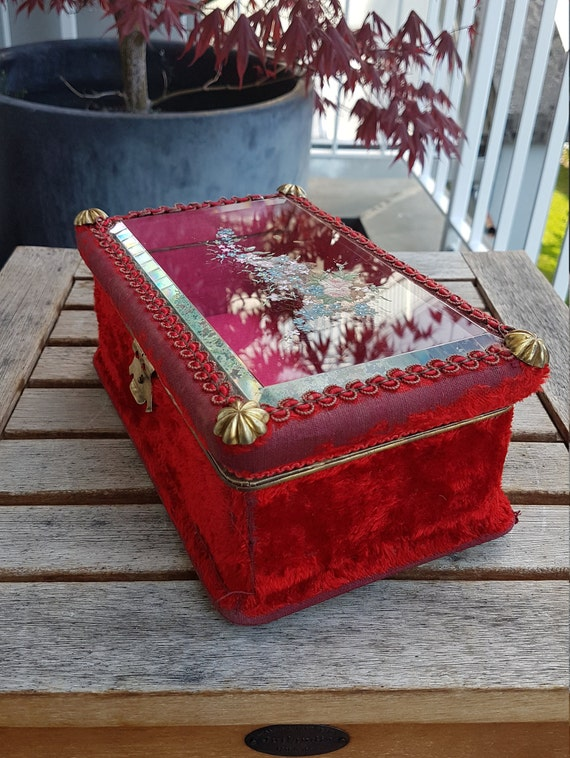 Art Nouveau Velvet Jewelry Box - image 4