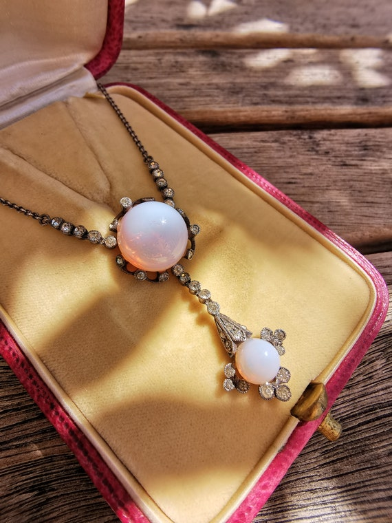 Edwardian Paste Opalite Necklace