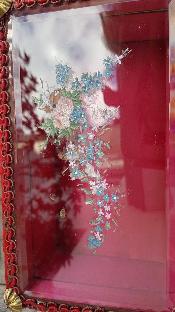 Art Nouveau Velvet Jewelry Box - image 6