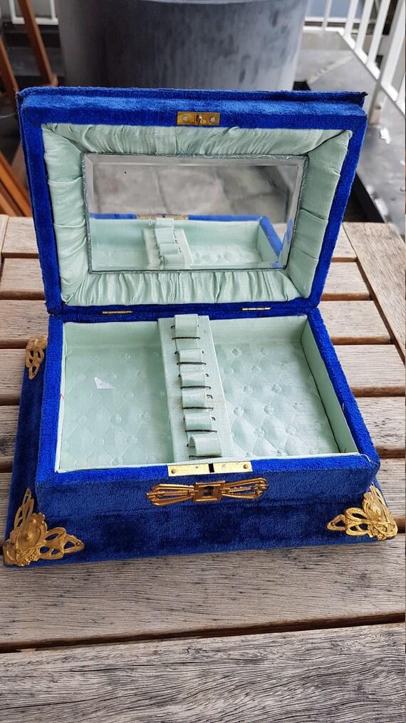 Antique Victorian Velvet Jewelry Box - image 9