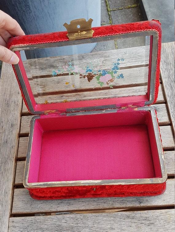 Art Nouveau Velvet Jewelry Box - image 7