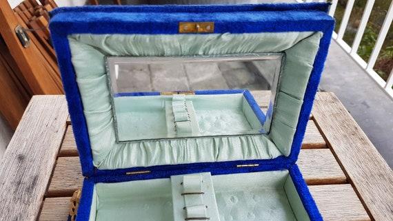 Antique Victorian Velvet Jewelry Box - image 10