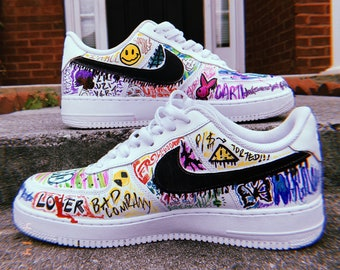 0b61fcb3ed Nike Air Force 1 Custom Hip Hop Shoes