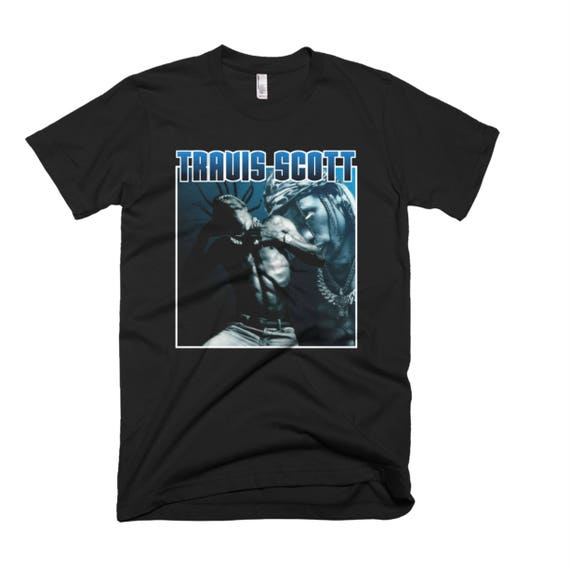 054dbc342cfd4 Travis Scott Blue Vintage T-Shirt