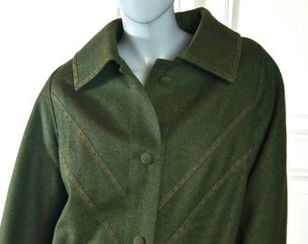 8e54f6f9abe Vintage Loden Wool Coat
