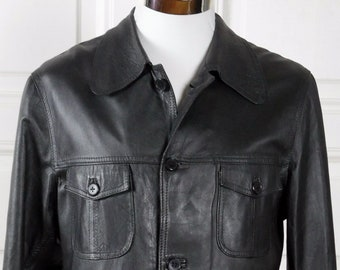 Mens Leather Jacket Etsy