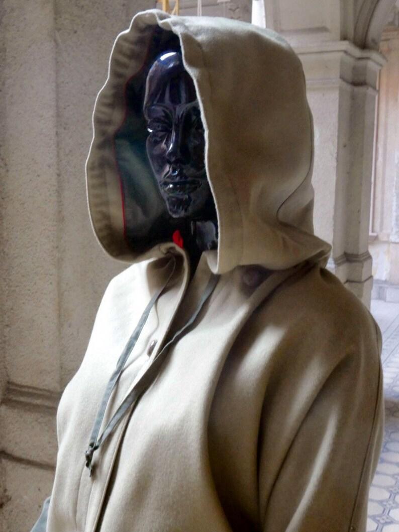 12b9e8f0570 Manteau en laine Loden Vintage Vintage autrichien à capuche
