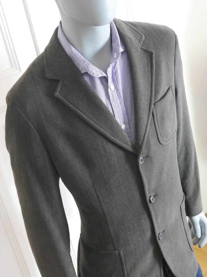 e17c21dc8 Vintage Hugo Boss Blazer Neutral Clay-Gray Brown Wool-Blend   Etsy
