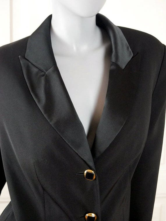 German Vintage Tuxedo Jacket Women s Black European  986aee1a1e