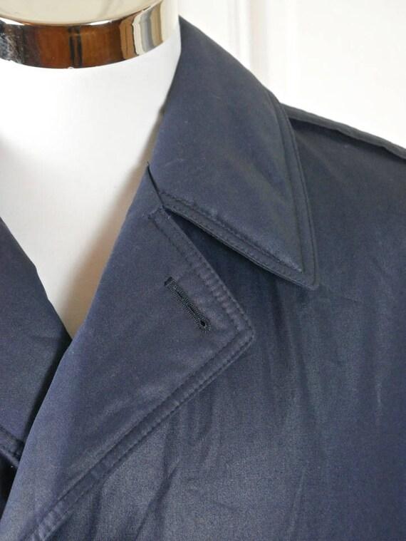 Scandinavian Vintage Trench Coat, Light Navy Blue