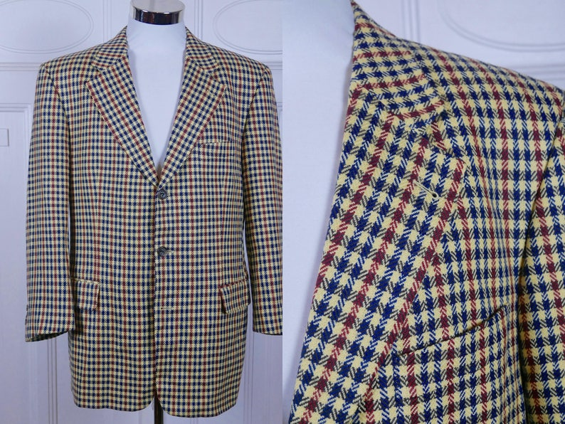 2df2cb56d2d Vintage Hugo Boss Blazer Swiss-Made Gun Club Check