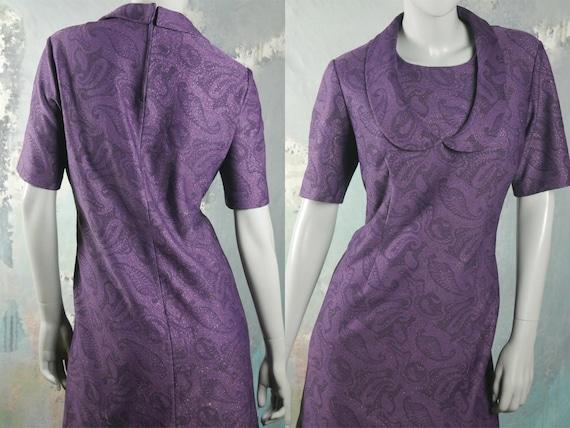 années 1960 violet Paisley robe espagnole Vintage manches   Etsy caa44cb82dc1