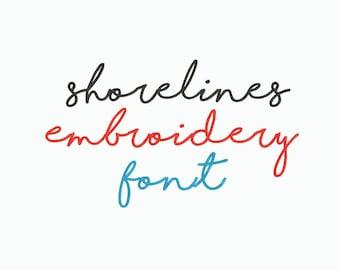 Shoreline font | Etsy