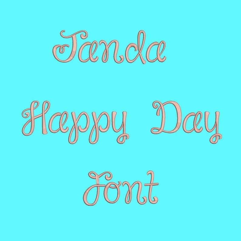 Janda Embroidery Font 3 Sizes Machine Embroidery Etsy