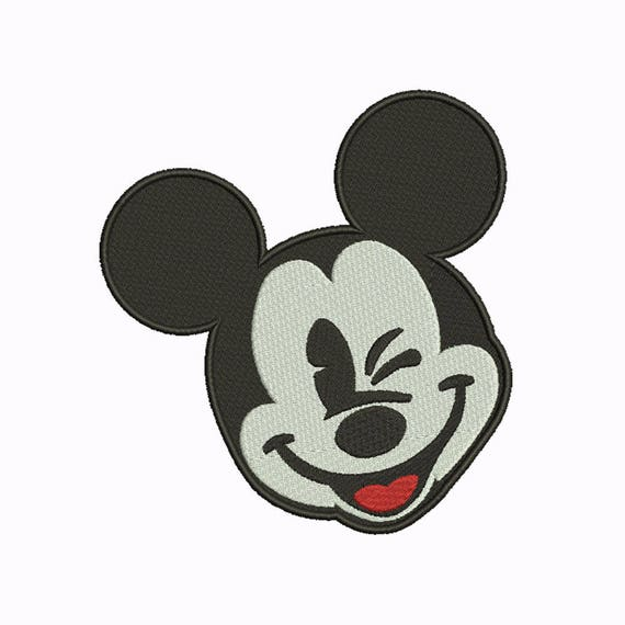 10 tamaño Mickey Mouse bordado diseños instantánea descargar 8 formatos de  máquina patrón de bordado