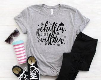 a369fa2c Disney Villain Shirt - Chillin Like A Villain - Disney Family Shirts -  Disney Group Shirts - Disney Sunglasses Shirt - Family Disney Shirts