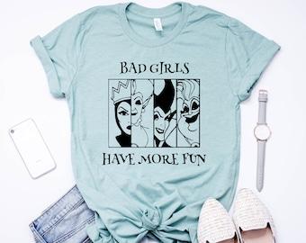 1b210c0a Disney Villain Shirt Bad Girls - Disney Group Shirts - Disney Shirts - Disney  Family Shirts - Disney Pricess Shirts - Disney Womens Shirts