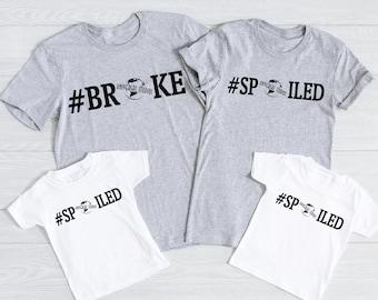 Universal Globe Broke/ Spoiled Family Shirt - Broke Spoiled Universal Shirts - Universal Group Shirts - Universal Studios Shirts