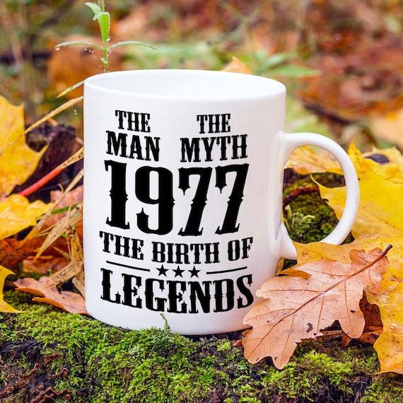 Born In 1977 40th Birthday Present Mens 40th Birthday Gift Etsy