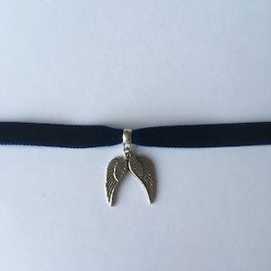 Handmade Samulet Supernatural Black Velvet Ribbon Choker