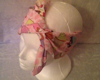 Handmade Pink Cupcake Headband
