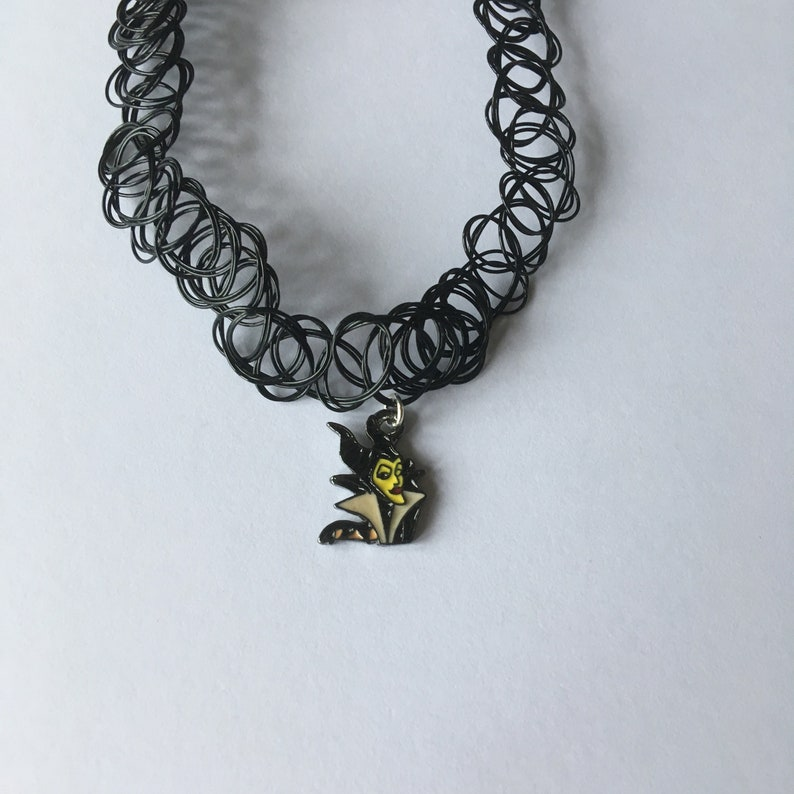Handmade Maleficent Tattoo Choker