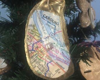 Oyster Map Ornament - Downtown Savannah