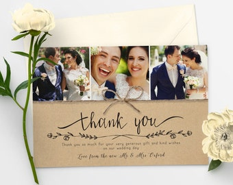 Thank You Cards Wedding Etsy