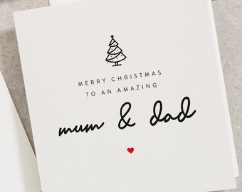 Mum And Dad Card Etsy