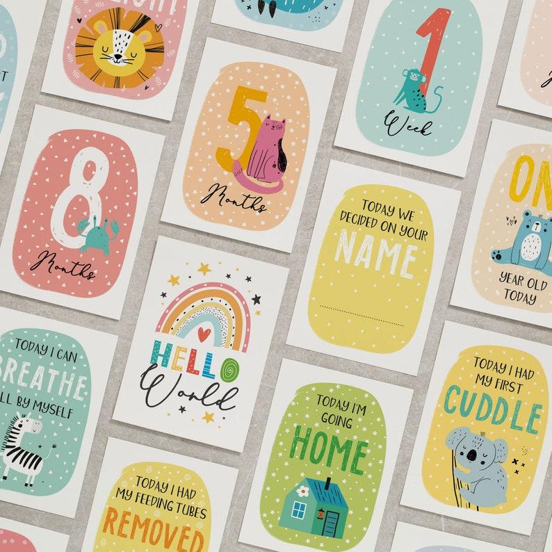 Preemie Milestone Cards Premature Baby Milestone Cards Unisex Preemie Milestone Cards For Preemie Baby Preemie Baby Gift Journey Cards