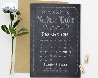 Save The Date Calendar Save The Date Postcard Save The Date Printable Printed Save The Date - #27-11