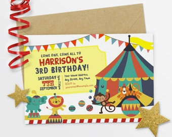 Circus Invitation Circus Birthday Invitation Circus Birthday Party Girl Circus Party - #21-10
