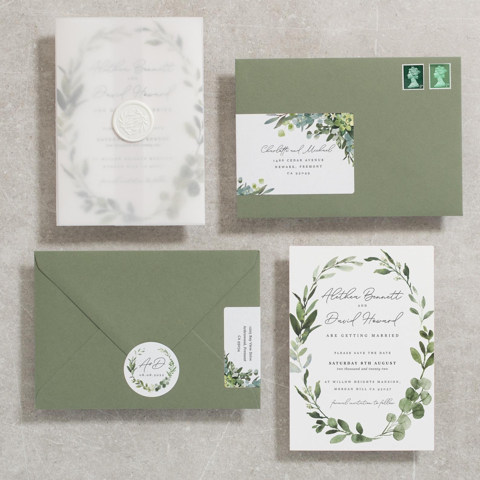 Hochzeitskarten Olive