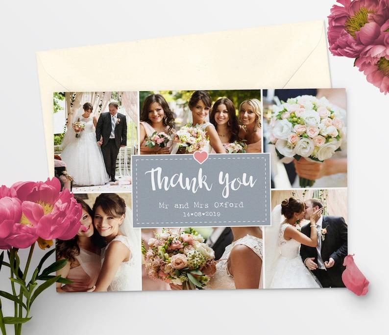 Thank You Wedding Cards Printable Wedding Thank You Card Template Thank You Cards #55-13
