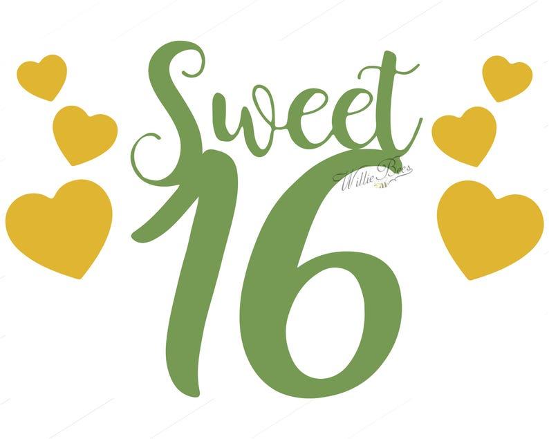 Sweet Sixteen Birthday, Happy Birthday, 16 Birthday, Girl Birthday, Coming  Of Age, Birthday Image, Sixteen Years, 16 Years, Digital Download