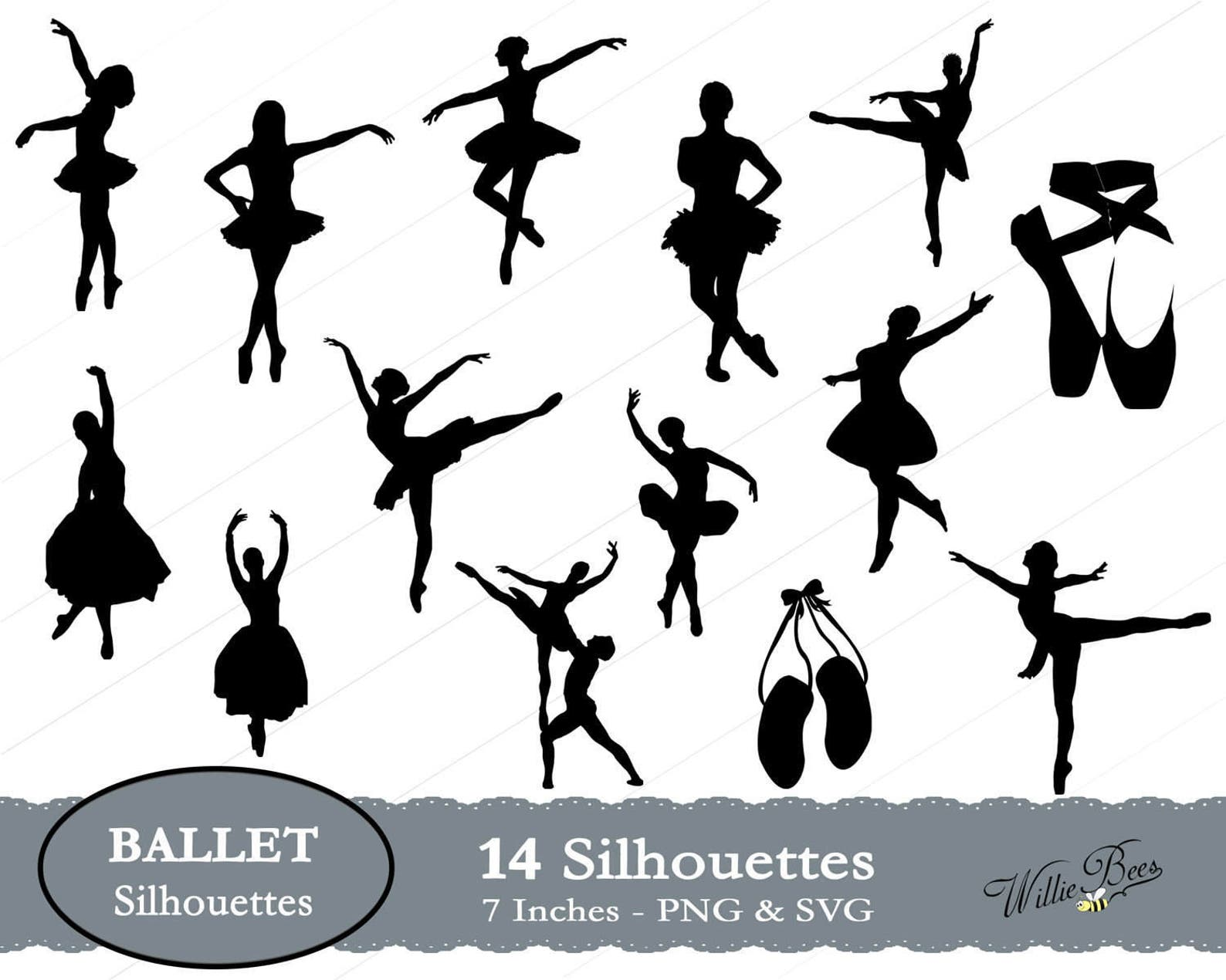 ballet silhouette clip art, ballet dancers svg, danseur clipart, danseuse performing art, ballerina dancers, ballet shoes, insta