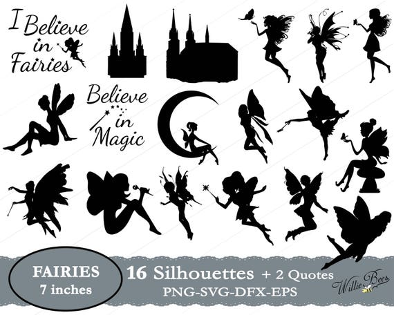 Fairy Svg Fairy Clipart Magic Wand Svg Fairy Quotes Angel Etsy